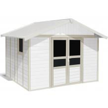 Tuinhuisje Basic Home 11 m² Wit - Groengrijs