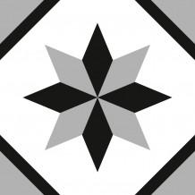 Zelfklevende tegels Square Rosace