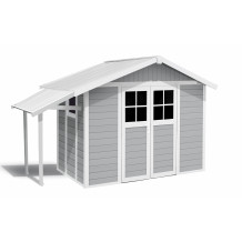 Tuinhuisje Lodge Lodge 7,5 m² lichtgrijs