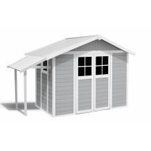 Tuinhuisje Lodge 7,5 m² licht grijs