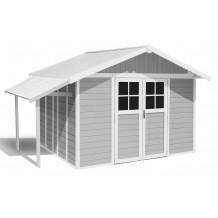 Tuinhuisje Lodge 11 m² licht grijs