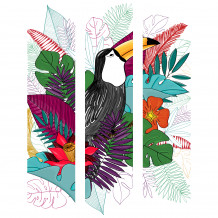 Cadre décoratif Toucan colour