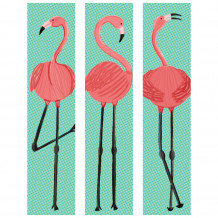 Decoratief wandschilderij decor Flamingo