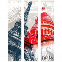 Decoratief wandschilderij DECOR PARIJSE MONUMENTEN