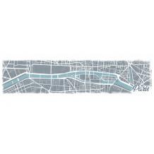 DECOR PLATTEGROND VAN PARIJS