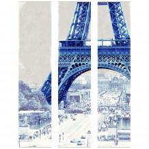 Decoratief wandschilderij PARIJS EIFFELTOREN