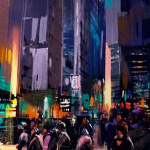 Decoratieve wand Element 3D My City