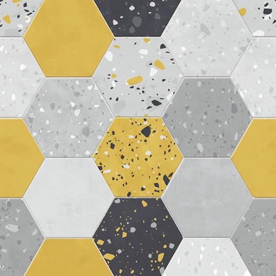 Revêtement Element Terrazzo Tomette jaune